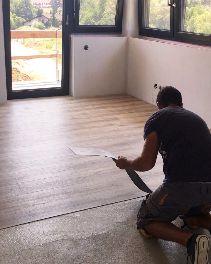 Sedlar Bau Vinylboden Verlegung